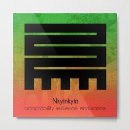Nkyinkyin - Adinkra Poster Art Metal Print