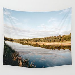 Riverside at Dusk Wall Tapestry