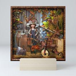 Behind the Barn Mini Art Print