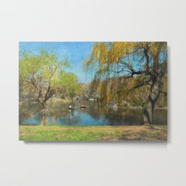 The Boats at Central Park Metal Print