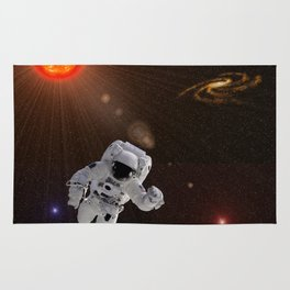 Astronaut Sun Stars Rug