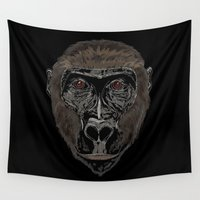 ape Wall Tapestries featuring Ape by Mel McIvor