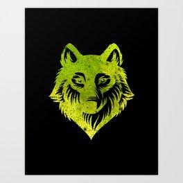 Galaxy Wolf Art Print