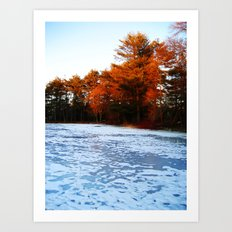 The Frozen River Art Print