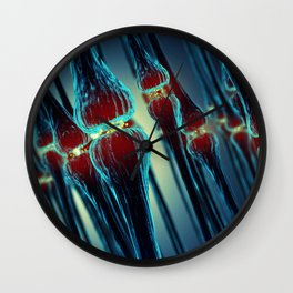 Brain synapses Wall Clock