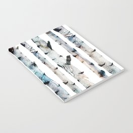 New Birch Trees Forest Notebook