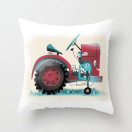 The Little Tractor Throw Pillow