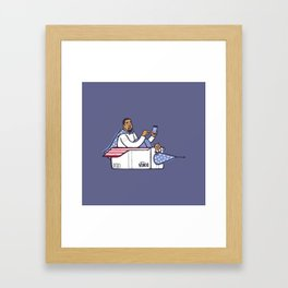 Can Ye Touch The Sky - Purple Framed Art Print
