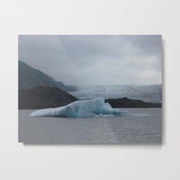 Iceberg, Grewingk Glacier, Kachemak Bay State Park, Kenai Peninsula, AK Metal Print