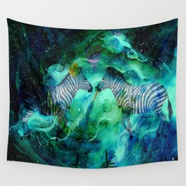 Love Beyond The Moon And Stars - Bagaceous Wall Tapestry
