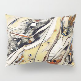 Abstract Aerial Cityscape - Acrylic Art by Fluid Nature Pillow Sham
