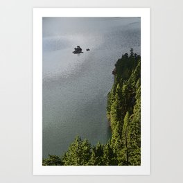 ISLAND IN THE LAKE IN THE NORTH CASCADE RANGE Art Print