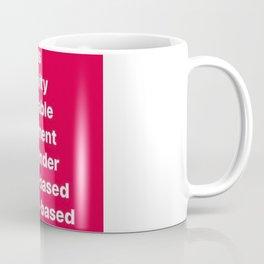 Banned Words for the Holiday Season Coffee Mug