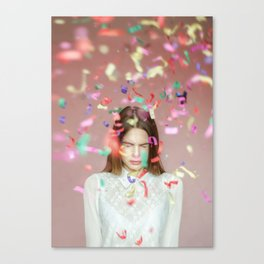 unexpected happiness Canvas Print
