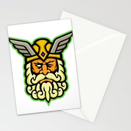 Odin Norse God Mascot Stationery Cards