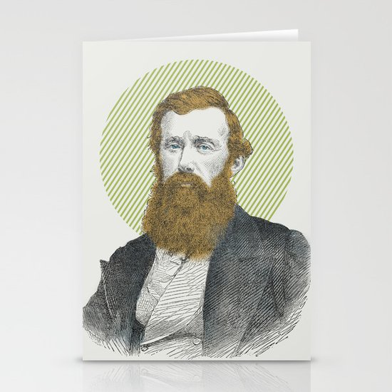Blue Eyes, Red Beard, Gray Suit Stationery Cards