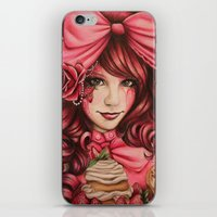 strawberry iPhone & iPod Skins featuring Strawberry  by Sheena Pike ART