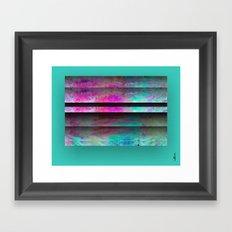 Turquoise Color Blinds Framed Art Print