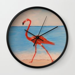 love flamingo Wall Clock