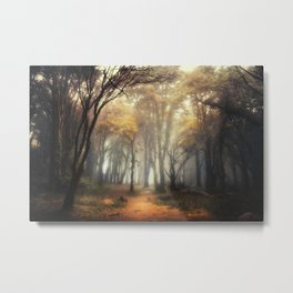 Into the Golden Metal Print