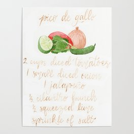 Pico de Gallo Recipe Poster