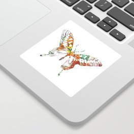 Colorful butterfly fabric art Sticker