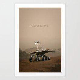 Farewell, Oppy. Art Print