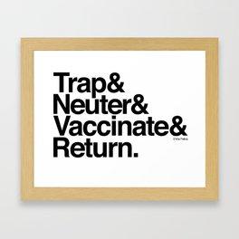 Trap& Neuter& Vaccinate& Return. Framed Art Print