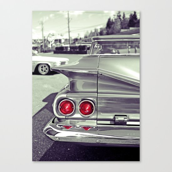 Taillights Americana Canvas Print
