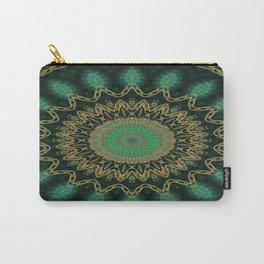 Golden Mandala (green) Carry-All Pouch