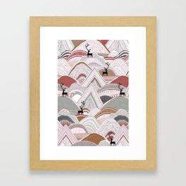 caribou mountains sienna Framed Art Print