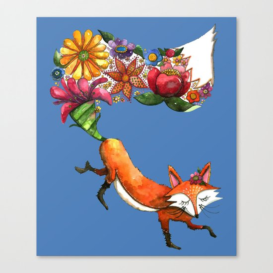 Hunt Flowers Not Foxes Two Canvas Print