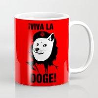 doge Mugs featuring Viva la Doge by Dinosir