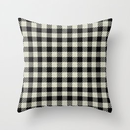 Blanched Almond Buffalo Plaid Throw Pillow
