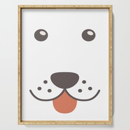 Dog Emoji Bloodhound Gift Serving Tray