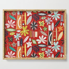 beachy red Serving Tray