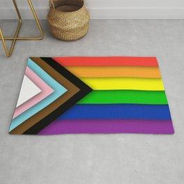 Progress Pride Flag Rug