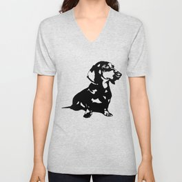 Dachshund Doxie Daxie Wiener  Dog Breed  Unisex V-Neck