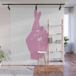 Fingers Crossed Wall Mural
