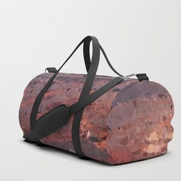 Surface of Mars Low Poly Geometric Triangles Duffle Bag