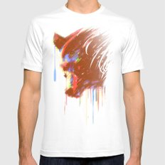 Mr. Grizzle  Mens Fitted Tee MEDIUM White