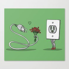 Mr. Plug Loves Ms. Socket Canvas Print