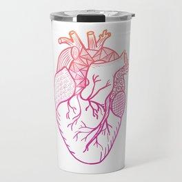 Designer Heart Travel Mug