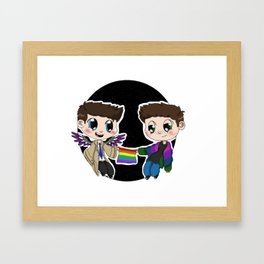 Ace!Cas and Bi!Dean Framed Art Print