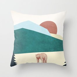 Roar Bear Throw Pillow