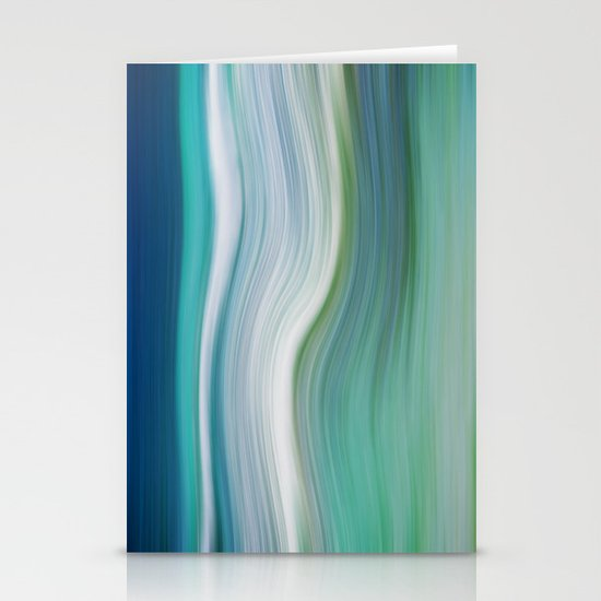 OCEAN ABSTRACT Stationery Cards