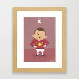 The Tens   Wayne Rooney Framed Art Print