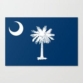Flag of South Carolina - High Quality image Canvas Print
