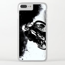 The Vintage Motorcycle Racer Clear iPhone Case