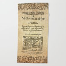 Shakespeare. A midsummer night's dream, 1600 Beach Towel